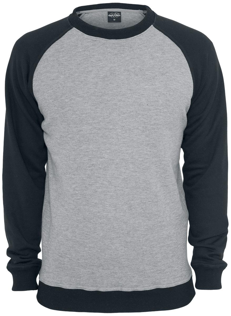 Image of   Urban Classics 2-Tone Raglan Crewneck Sweatshirt grå-sort